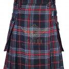 Scottish Men's Modern utility kilt - Two Cargo Pockets Kilt Spirit of Bruce Tartan