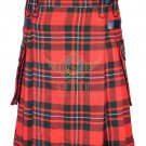 Scottish Men's Modern utility kilt - Two Cargo Pockets Kilt Macgregor Tartan
