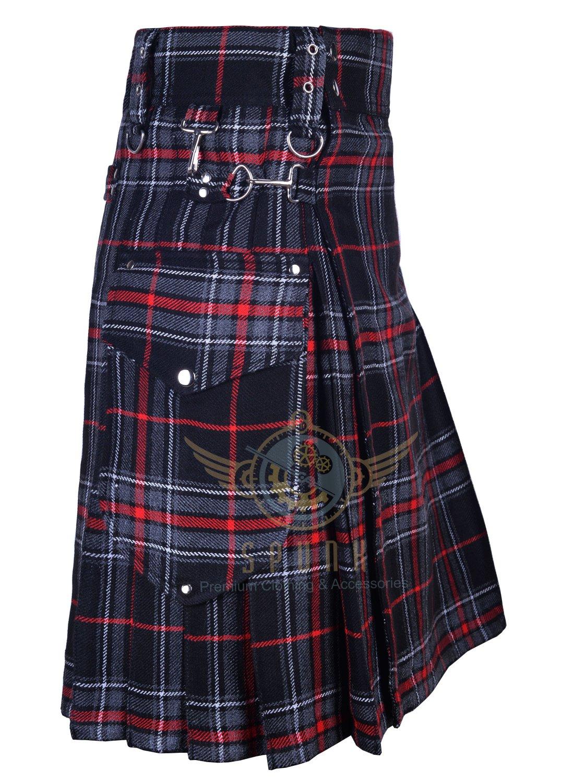 Scottish UTILITY KILT Handmade Kilt-Cargo Pockets Utility Kilt Spirit of Bruce Tartan