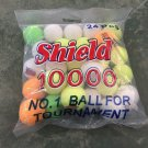 Shield 10000 multi Colors cricket ball tennis ball tape ball Soft ball Assorted colors Pack Of 12