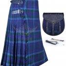 Scottish 8 Yard TARTAN KILT Highland Traditional Kilt Spirit of Scotland with free Sporran