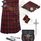Mens Scottish 8 Yard KILT Traditional 8 yard KILT MacDonald & Free Accessories