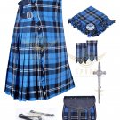Mens Scottish 8 Yard KILT Traditional 8 yard KILT Ramsey Blue hunting & Free Accessories
