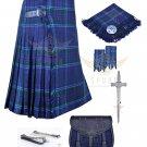 Mens Scottish 8 Yard KILT Traditional 8 yard KILT Spirit of Scotland & Free Accessories