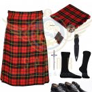 Scottish 8 Yard KILT Mens Traditional 8 yard KILT Wallace & Free Accessories