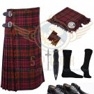 Scottish 8 Yard KILT Men's MacDonald Traditional 8 yard KILT With Free Accessories