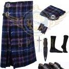 Scottish 8 Yard KILT Men's Pride of Scotland Traditional 8 yard KILT With Free Accessories
