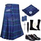 Scottish 8 Yard KILT Men's  Spirit of Scotland Traditional 8 yard KILT With Free Accessories