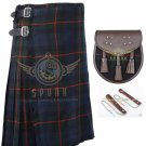 Scottish 8 Yard KILT Men's Gun 8 yard kilt Highland Traditional Kilt with Sporran