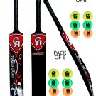 CRICKET soft ball BAT CA NJ-3000 Fiber Composite tennis ball bat with pack of 12 Balls