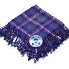 Scottish Traditional Masonic Tartan Kilt FLY PLAID & Brooch -Fly plaid Size (48 X 48)