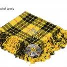 Scottish Traditional MacLeod of Lewis Tartan Kilt FLY PLAID & Brooch -Fly plaid Size (48 X 48)