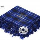 Scottish Traditional Ramsey Blue Tartan Kilt FLY PLAID & Brooch -Fly plaid Size (48 X 48)