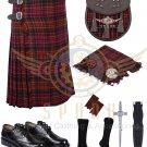 Scottish 8 Yard KILT Traditional 8 yard Tartan KILT MacDonald 8 yard kilt With Accessories
