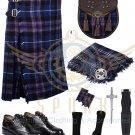 Scottish 8 Yard KILT Traditional 8 yard Tartan KILT Pride of Scotland With Accessories Waist 38