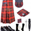 Scottish 8 Yard KILT Traditional 8 yard Tartan KILT MacGregor 8 yard kilt With Accessories