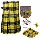 Scottish 8 Yard KILT Traditional 8 yard Tartan KILT Macleod of Lewis With Accessories Waist 56