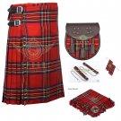 Scottish 8 Yard KILT Traditional 8 yard Tartan KILT Royal Stewart With Accessories Waist 36