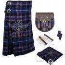 Scottish 8 Yard KILT Traditional 8 yard Tartan KILT Pride of Scotland With Accessories Waist 50