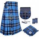 Scottish 8 Yard KILT Traditional 8 yard Tartan KILT Ramsey Blue Hunting 8 yard kilt Deal Set