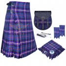 Scottish 8 Yard KILT Traditional 8 yard Tartan KILT Masonic With Accessories Waist 50