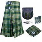 Scottish 8 Yard KILT Traditional 8 yard Tartan KILT st-patrick 8 yard kilt With Accessories