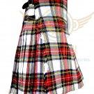 Scottish 8 Yard TARTAN KILT For Men Highland Traditional Kilt Dress Stewart Tartan Kilt