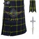 Men's Scottish Gordon 8 Yard KILT Highland Traditional 8 Yard KILT Package