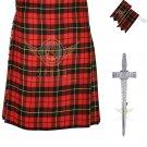 Men's Scottish Wallace 8 Yard KILT Highland Traditional 8 Yard KILT Package