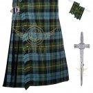 Scottish Gunn Ancient Tartan 8 Yard KILT Highland Traditional 8 Yard KILT