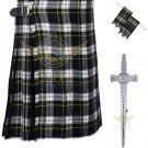 Scottish Dress Gordon Tartan 8 Yard KILT Highland Traditional 8 Yard KILT Dress Gordon Tartan