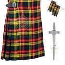 Scottish 8 Yard KILT Highland Traditional 8 Yard KILT Buchanan Tartan Waist 52