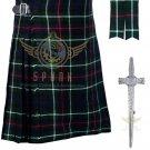 Scottish 8 Yard KILT Highland Traditional 8 Yard KILT Mackenzie Tartan Waist 32