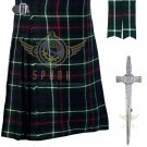 Scottish 8 Yard KILT Highland Traditional 8 Yard KILT Mackenzie Tartan Waist 56