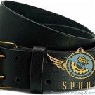 Men's Black 100% Original Leather Scottish Kilt Belt -Utility Kilt Leather Belt Size 38