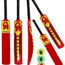 3 x CA NJ-5000 Tape Ball Fiber Cricket Bat 38mm (Pack of 3 Bats With 6 CA Balls)
