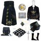 Men's Scottish Dress Gordon Hybrid Utility Kilt Navy Blue Cotton & dress Gordon Tartan Kilt
