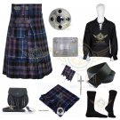 Men's Scottish Pride of Scotland Utility Kilt - 2 Cargo pockets Utility kilt Deal Set