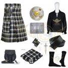 Men's Scottish Dress Gordon Utility kilt tartan Utility Kilt - 2 Cargo pockets Utility kilt Deal Set