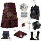 MacDonald Utility Kilt - 2 Cargo pockets Men's Scottish Utility kilt Package Waist 40