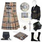 Campbell of Thompson Utility Kilt - 2 Cargo pockets Men's Scottish Utility kilt Waist 32