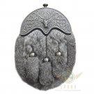 Premium Handmade Full Dress Rabbit Fur Scottish Kilt Sporran With Belt Chain