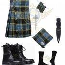 Men's Scottish Anderson 8 yard KILT Traditional 8 yard kilt - Free Accessories