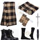 Scottish Rose Ancient 8 yard Tartan KILT - Free Accessories - Size 44