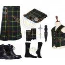 Scottish Hunting Stewart 8 Yard KILT Traditional Tartan KILT - With Free Accessories package