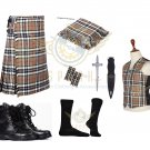 Scottish Campbell of Thompson 8 Yard KILT Traditional Tartan KILT - With Free Accessories Package