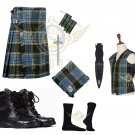 Scottish Anderson 8 Yard KILT Traditional Tartan KILT - With Free Accessories Package
