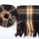 Scottish Rose Ancient Tam o'Shanter Flat Bonnet Hat With Scarf 100%Acrylic Tartan