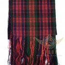 "Scottish Highland MacDonald Scarf CLAN Tartan SASH SCARF ""90"" X ""12"""