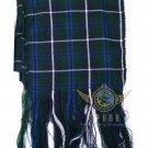 "Scottish Highland Blue Douglas Scarf CLAN Tartan SASH SCARF ""90"" X ""12"""